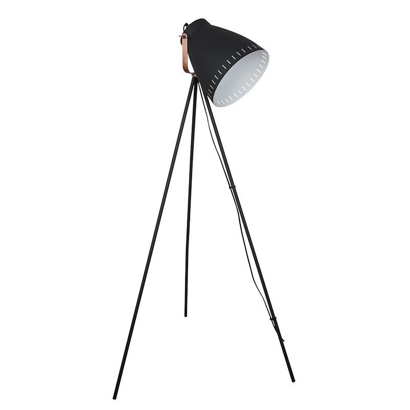 Solight stojací lampa Torino, trojnožka, 145cm, E27, černá