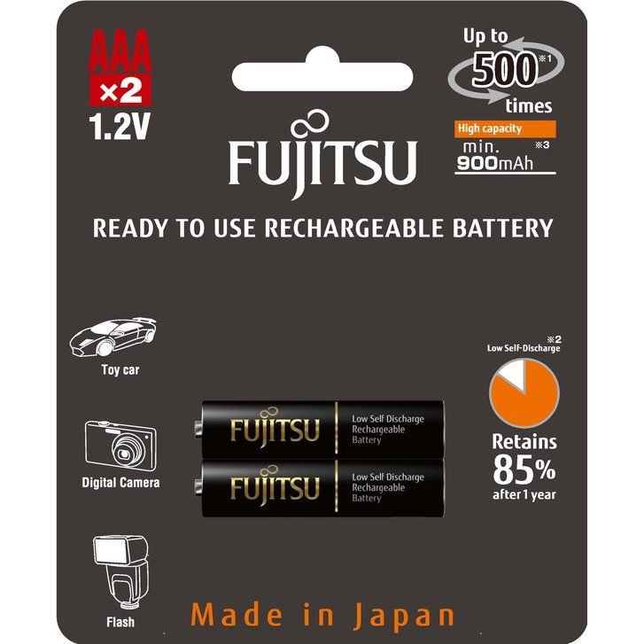 Fujitsu Black přednabitá baterie R03/AAA, blistr 2ks