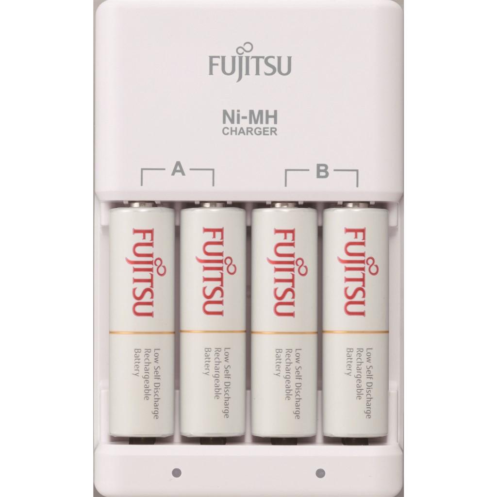 Fujitsu nabíječka + 4x přednabitá baterie R06/AA, 2100 cyklů, blistr