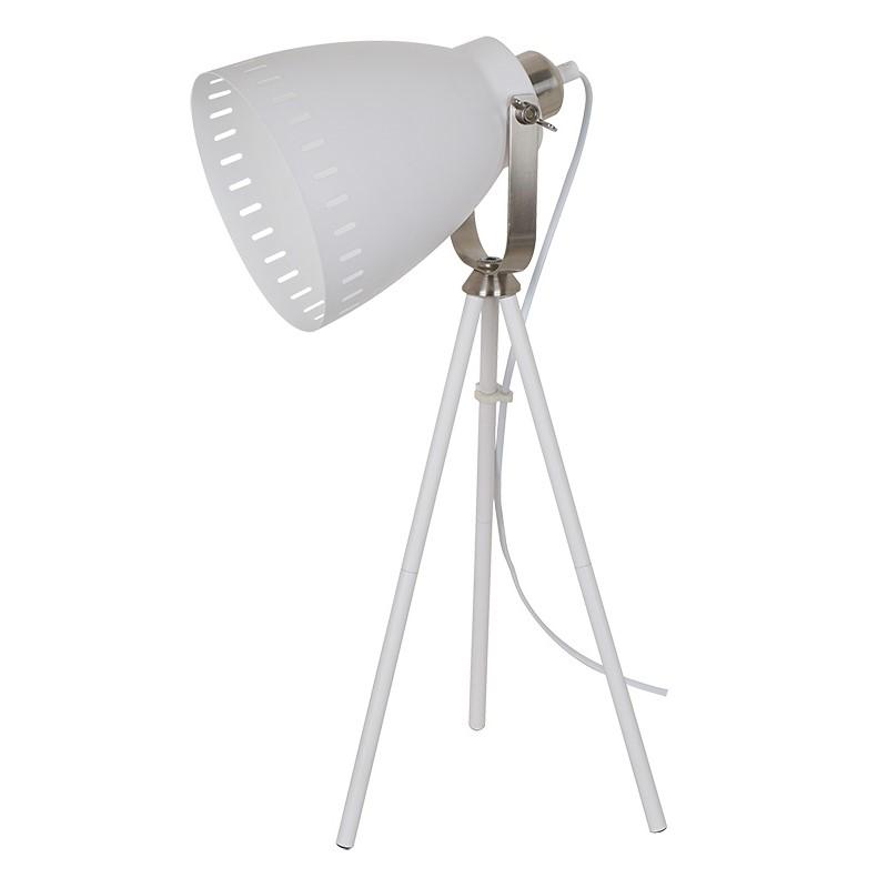 Solight stolní lampa Torino, trojnožka, 52cm, E27, bílá