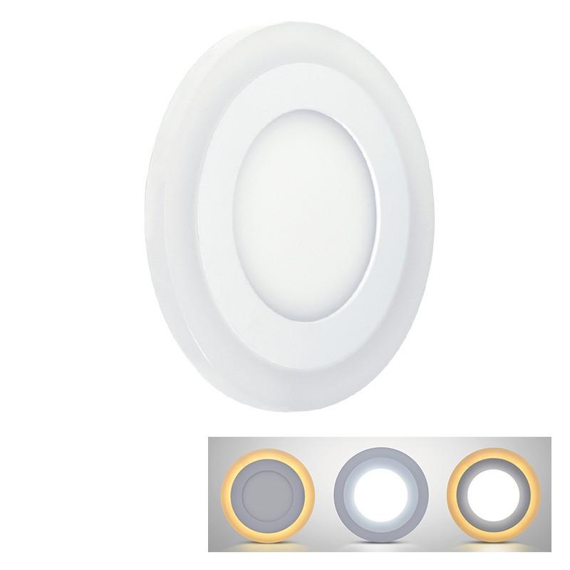 Solight LED podsvícený panel, podhledový, 12W+4W, 900lm, 4000K, kulatý