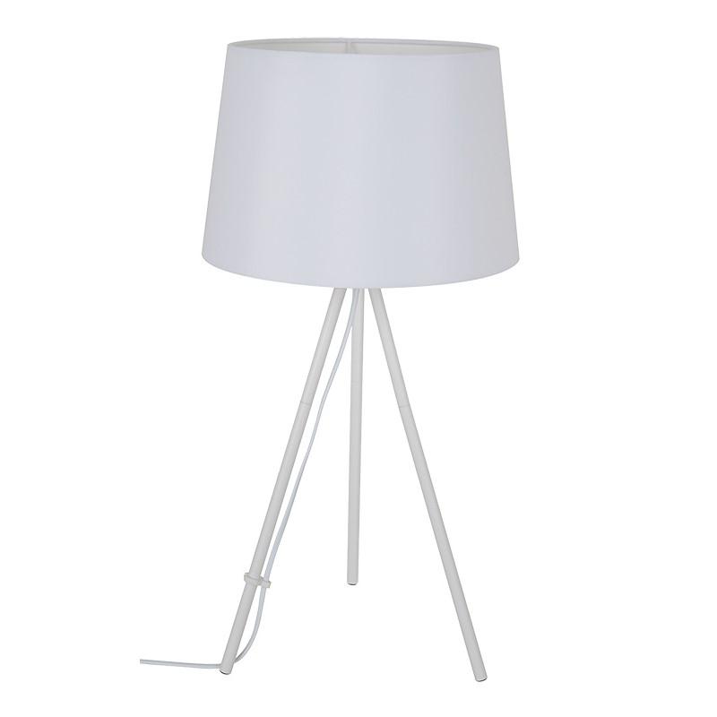 Solight stolní lampa Milano Tripod, trojnožka, 56 cm, E27, bílá