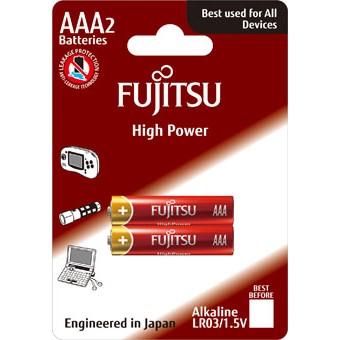 Fujitsu High Power alkalická baterie LR03/AAA, blistr 2ks