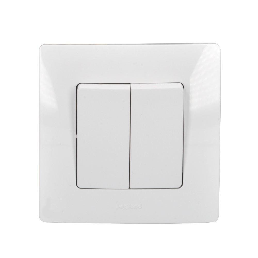 Solight vypínač Legrand Niloé č.5, sériový - lustrový, bílý, včetně rámečku
