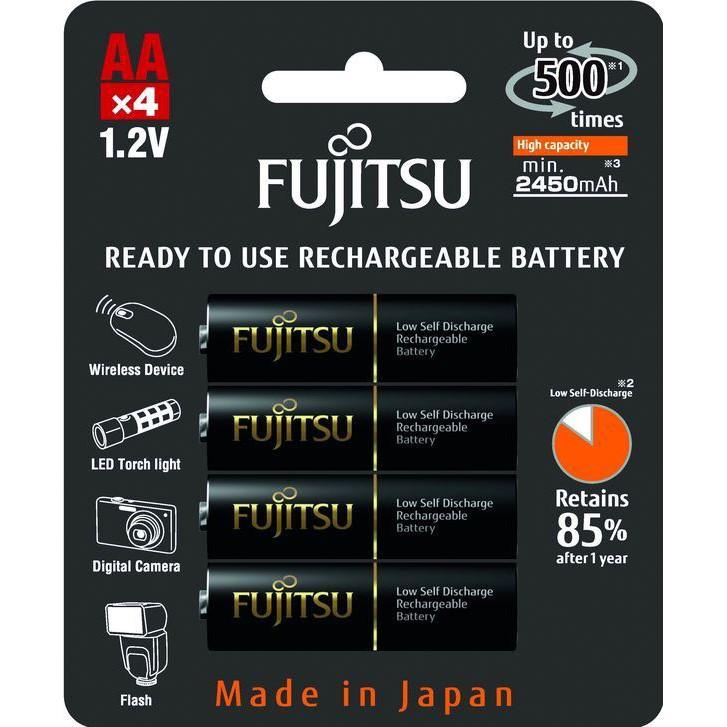 Fujitsu přednabitá baterie BLACK R06/AA, blistr 4ks