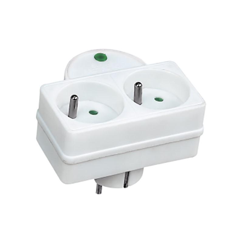 Solight přepěťová ochrana do zásuvky, 576J, 2 zásuvky, kontrolka
