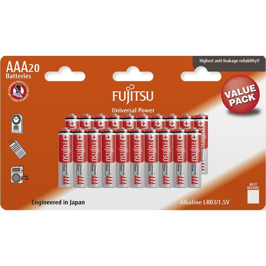 Fujitsu Universal Power alkalická baterie LR03/AAA, blistr 20ks