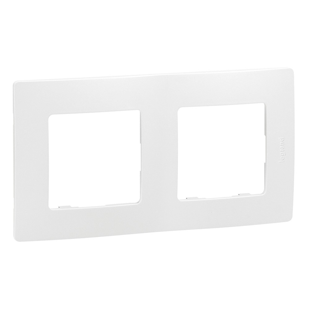 Solight rámeček Legrand Niloé, dvojnásobný, bílý