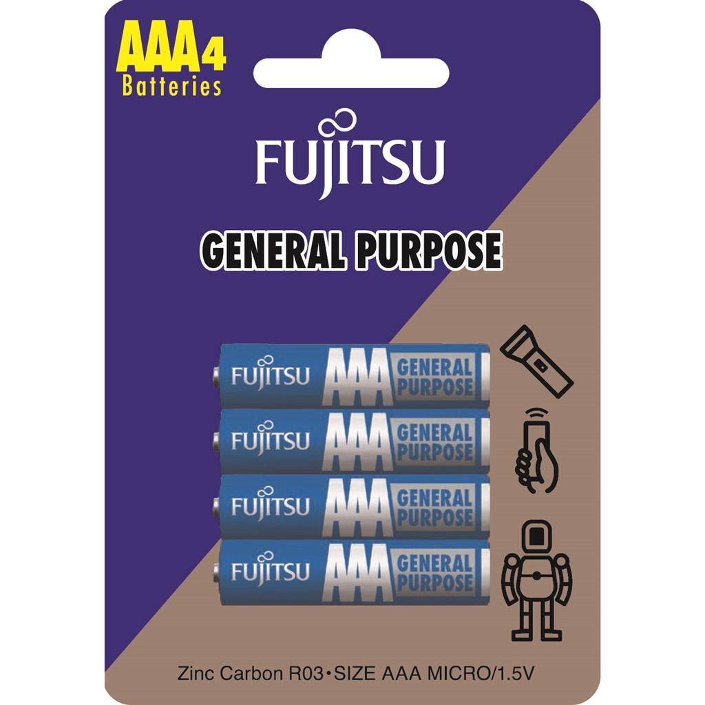 Fujitsu zinková baterie R03/AAA, blistr 4ks