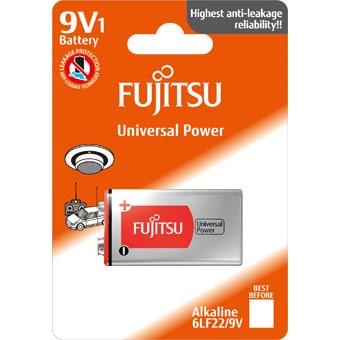 Fujitsu Universal Power alkalická baterie 9V, blistr 1ks