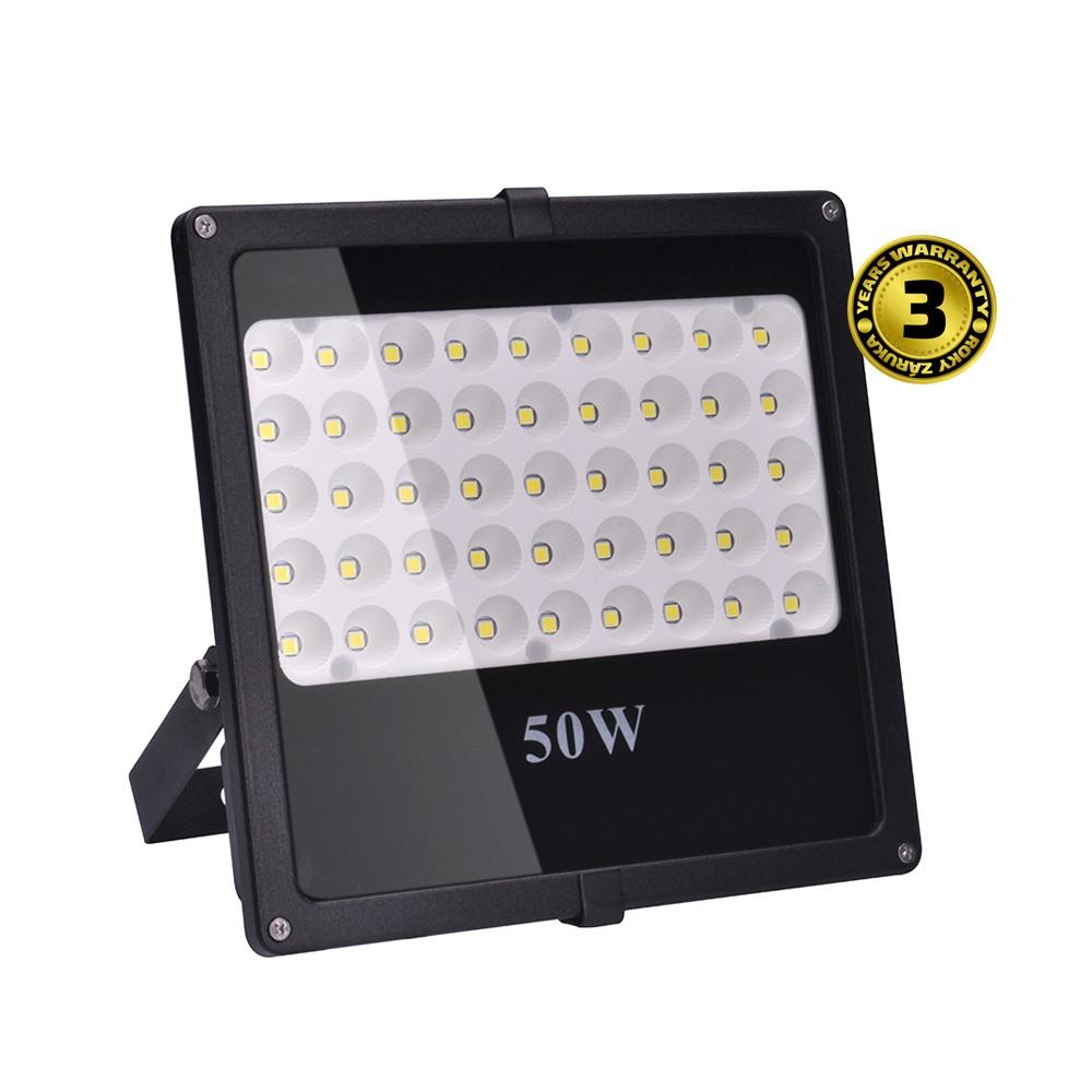 Solight LED venkovní reflektor, 50W, 4250lm, AC 230V, černá