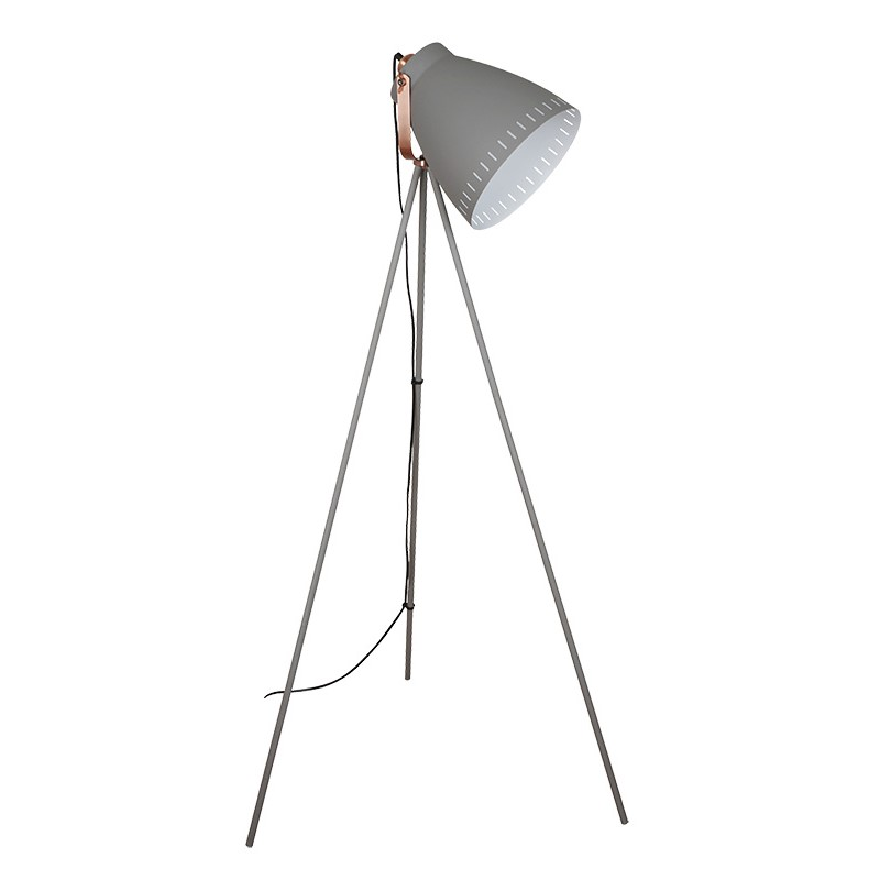 Solight stojací lampa Torino, trojnožka, 145cm, E27, šedá