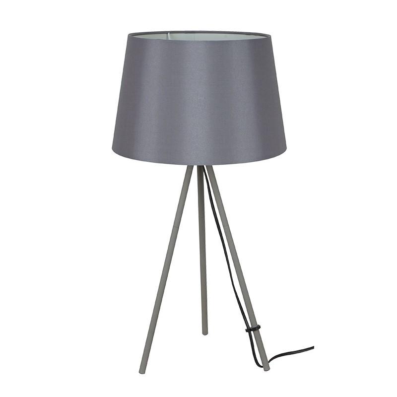 Solight stolní lampa Milano Tripod, trojnožka, 56 cm, E27, šedá