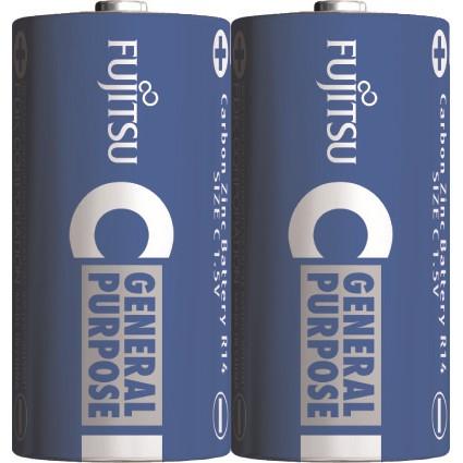 Fujitsu zinková baterie R14/C, shrink 2ks