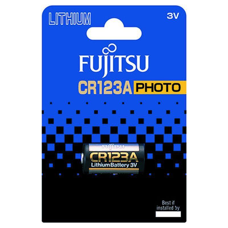 Fujitsu lithiová foto baterie CR123A, blistr 1ks