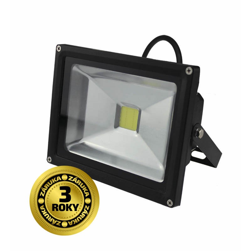 Solight LED venkovní reflektor, 20W, 1600lm, AC 230V, černá