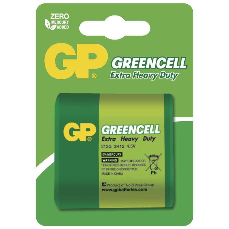 Zinkochloridová baterie GP Greencell 4,5V, blistr