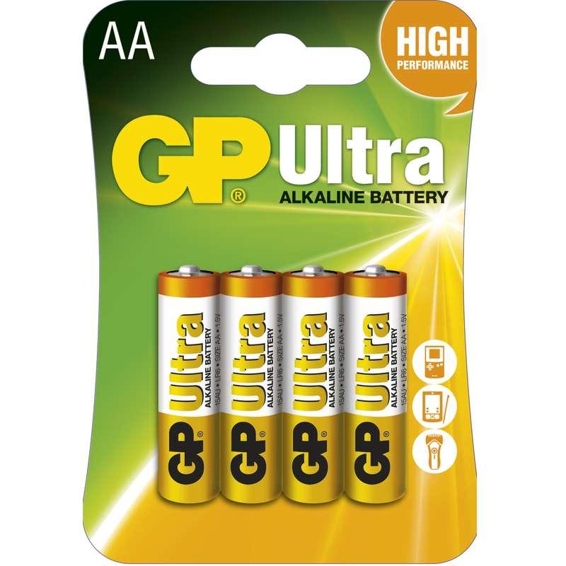 Alkalická baterie GP Ultra LR6 (AA), blistr