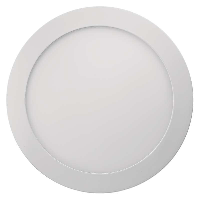 LED panel 224mm, kruhový přisazený bílý, 18W neutrální bílá