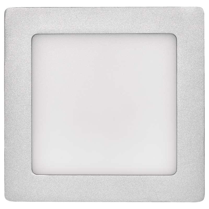 LED panel 170×170, přisazený stříbrný, 12W neutrální bílá
