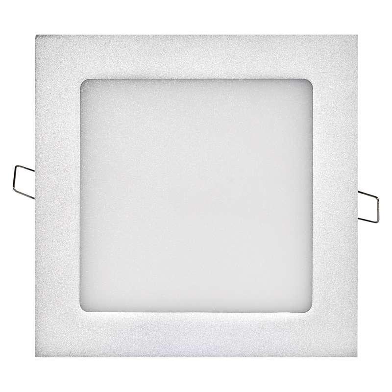 LED panel 170×170, čtvercový vestavný stříbrný, 12W neut. b.