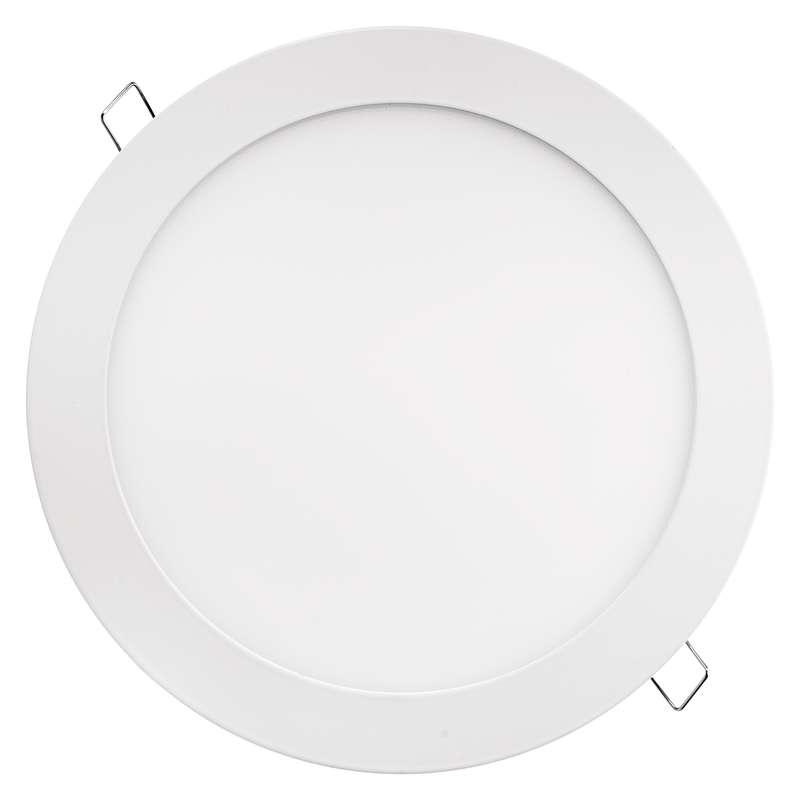 LED panel 220mm, kruhový vestavný bílý, 18W teplá bílá