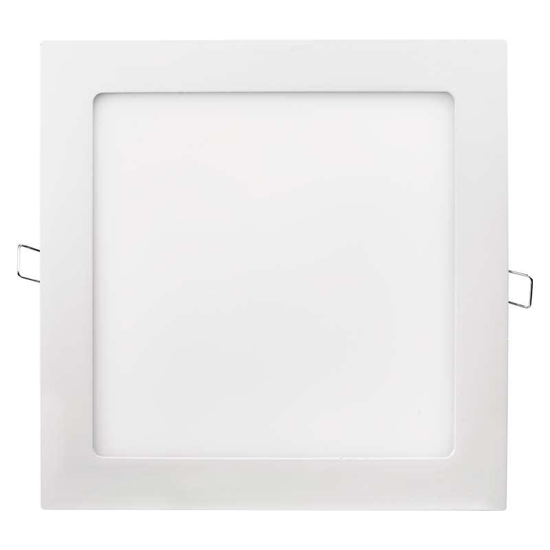 LED panel 220×220, čtvercový vestavný bílý, 18W teplá bílá