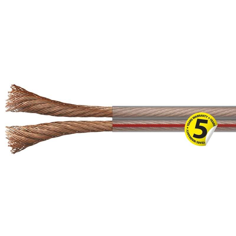 Dvojlinka nestíněná 2x0,75mm průhledná, 100m
