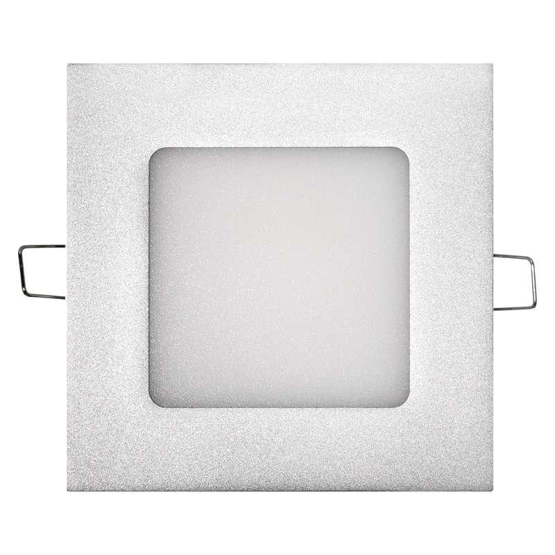 LED panel 120×120, čtvercový vestavný stříbrný, 6W neut. b.