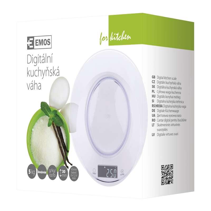 Digitální kuchyňská váha EV004 bílá