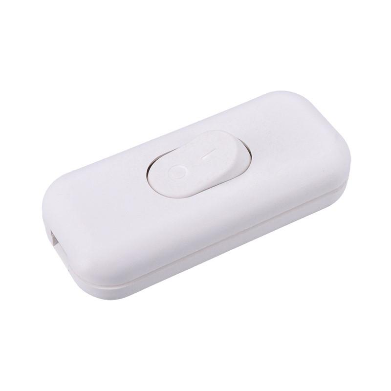 Solight vypínač šňůrový, jednopólový průchozí, bílý