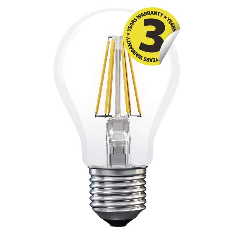 LED žárovka Filament A60 6W E27 teplá bílá