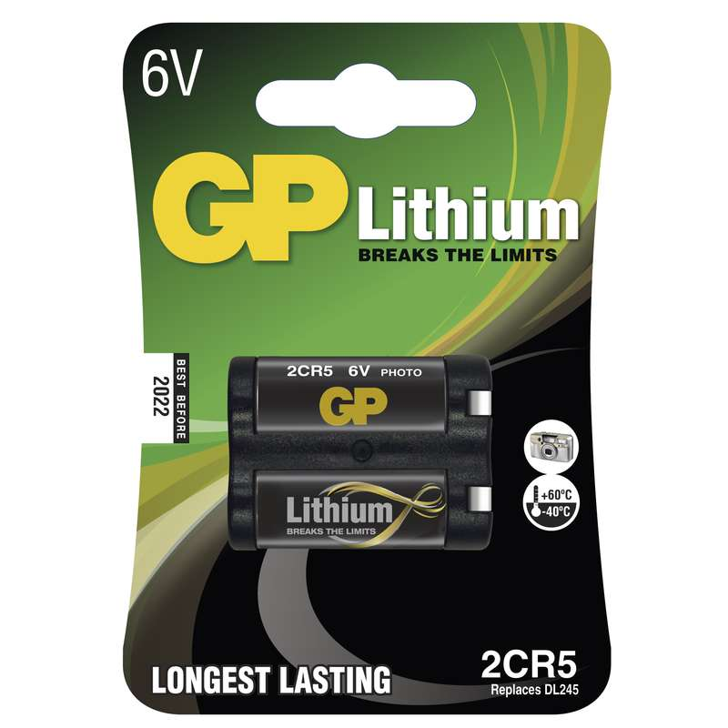 Foto lithiová baterie GP 2CR5, blistr