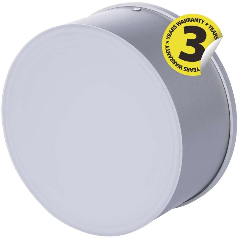 LED přisazené svítidlo, kruh stříbrná 17W studená bílá