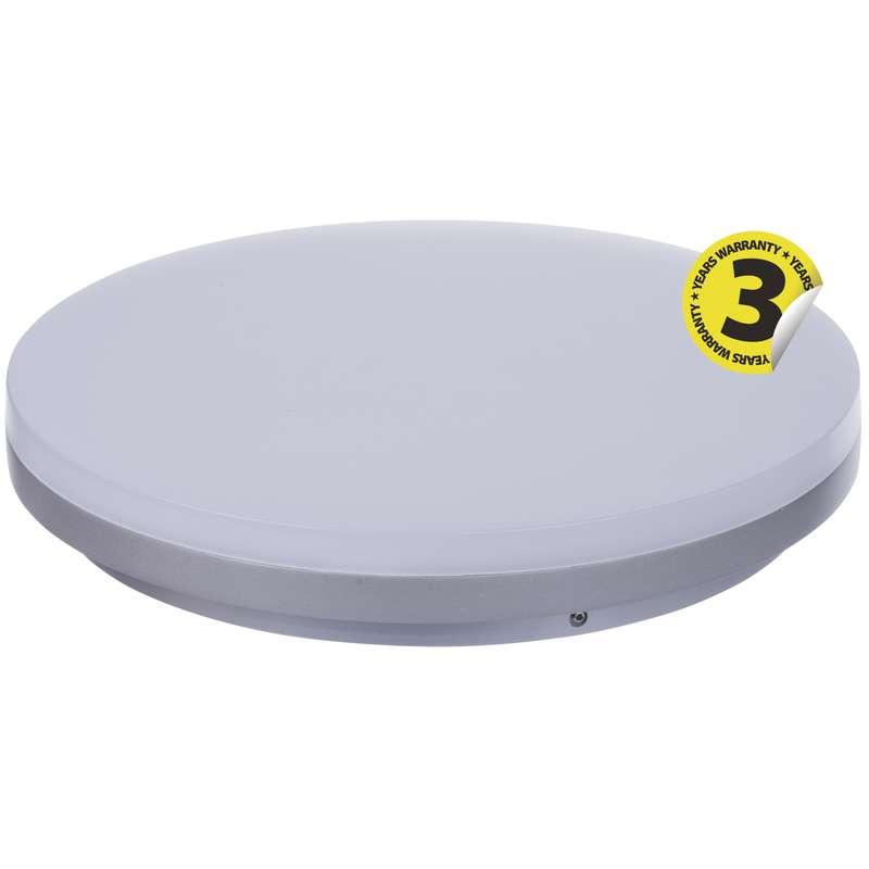 LED přisazené svítidlo, kruh stříbrná 29W studená bílá stm.