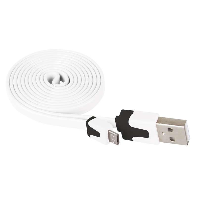 USB kabel 2.0 A/M - micro B/M 1m bílý
