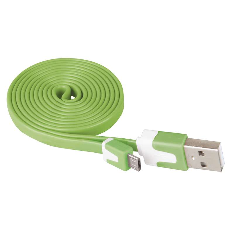 USB kabel 2.0 A/M - micro B/M 1m zelený