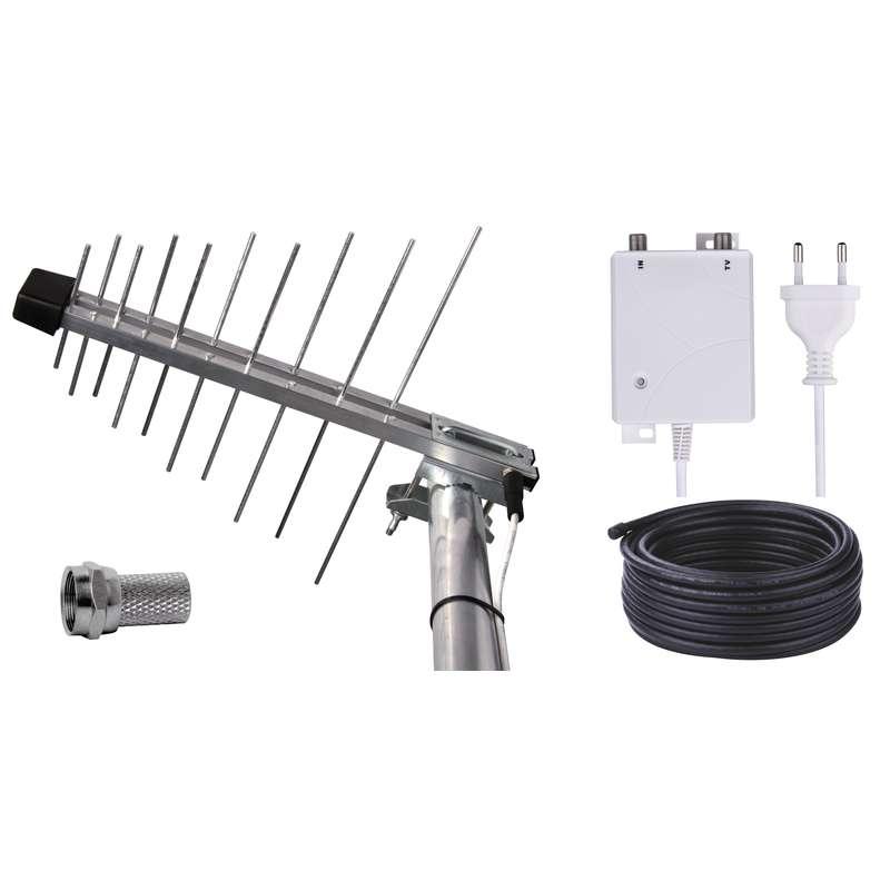 EMOS BEN-20 G venkovní anténa se zdrojem 44 dBi LTE/4G filtr