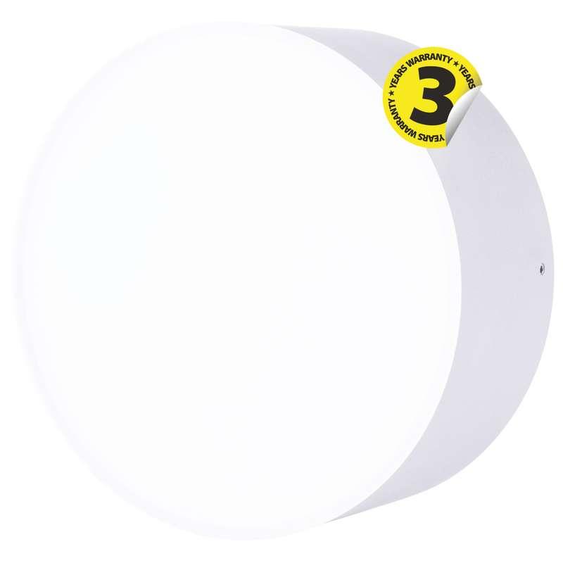LED přisazené svítidlo, kruh stříbrná 17W denní bílá