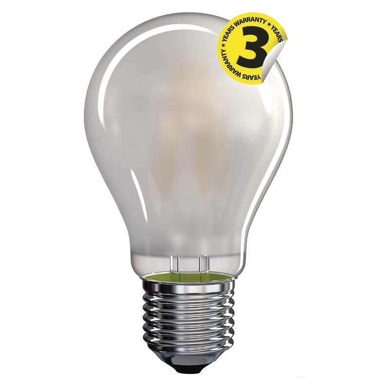 LED žárovka Filament matná A60 A++ 6,5W E27 teplá bílá