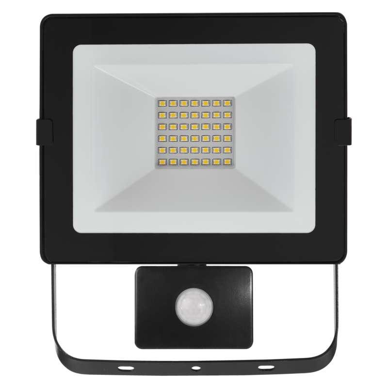 LED reflektor HOBBY SLIM s PIR, 30W neutralní bílá