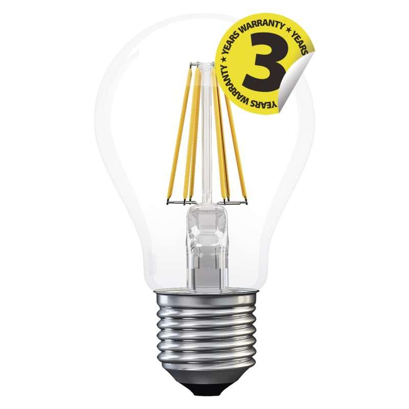LED žárovka Filament A60 A++ 8W E27 studená bílá