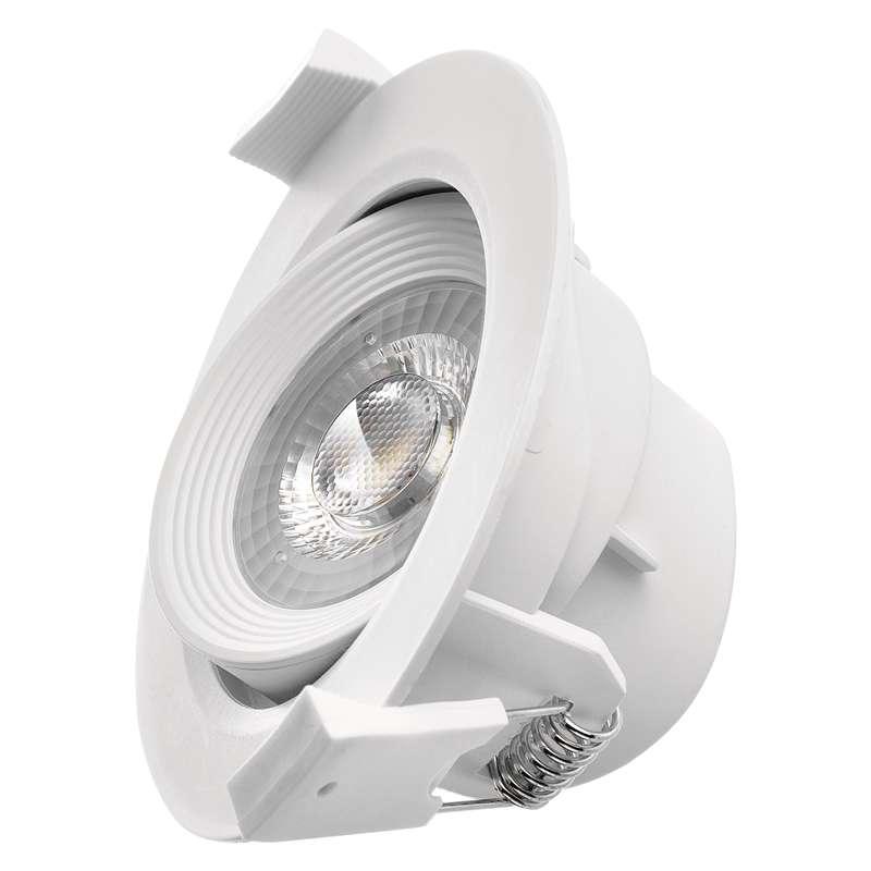 LED bodové svítidlo bílé, kruh 7W 3xDIMM teplá bílá