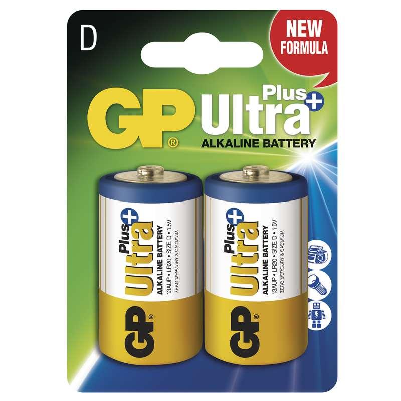 Alkalická baterie GP Ultra Plus LR20 (D), blistr