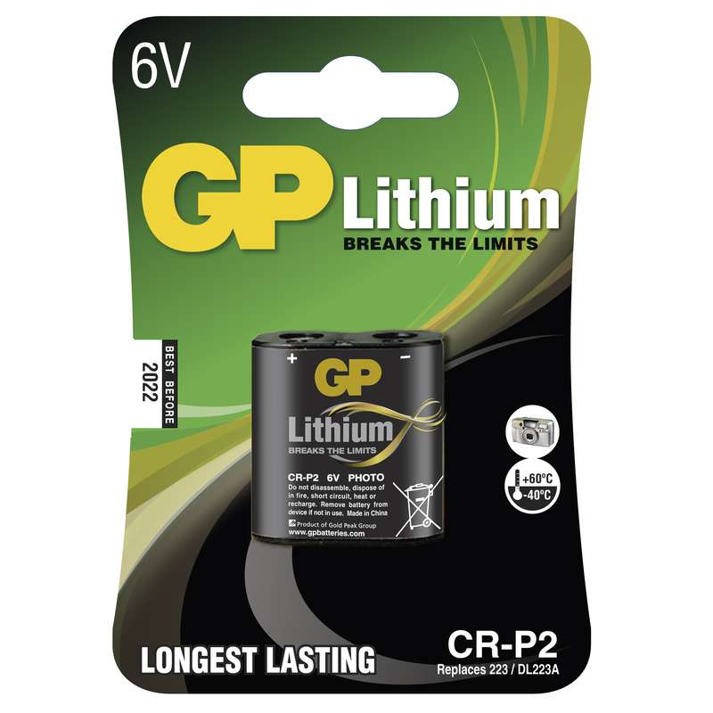 Foto lithiová baterie GP CR-P2, blistr