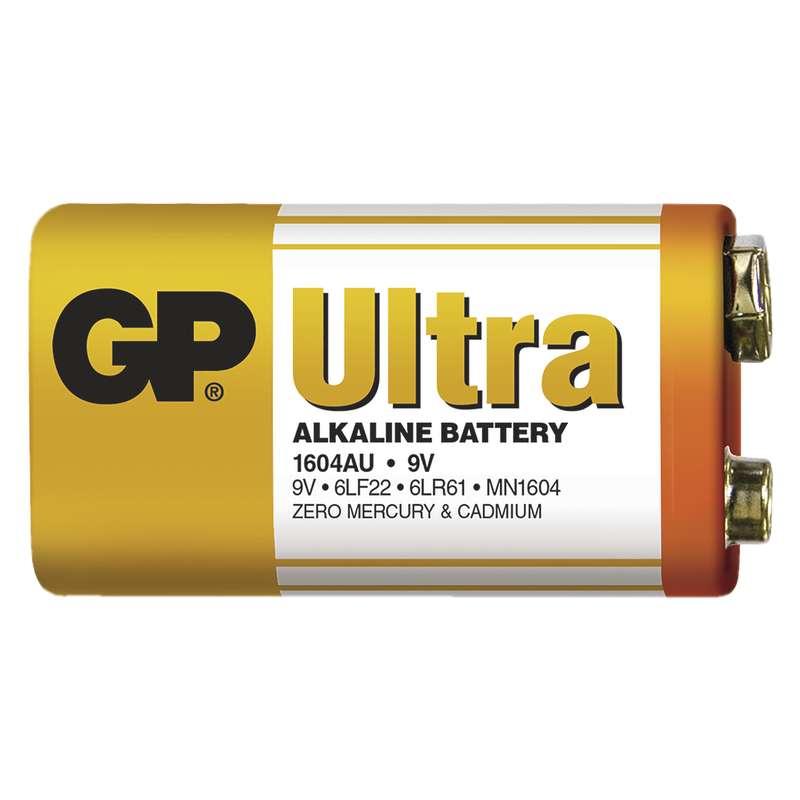 Alkalická baterie GP Ultra 6LF22 (9V) fólie