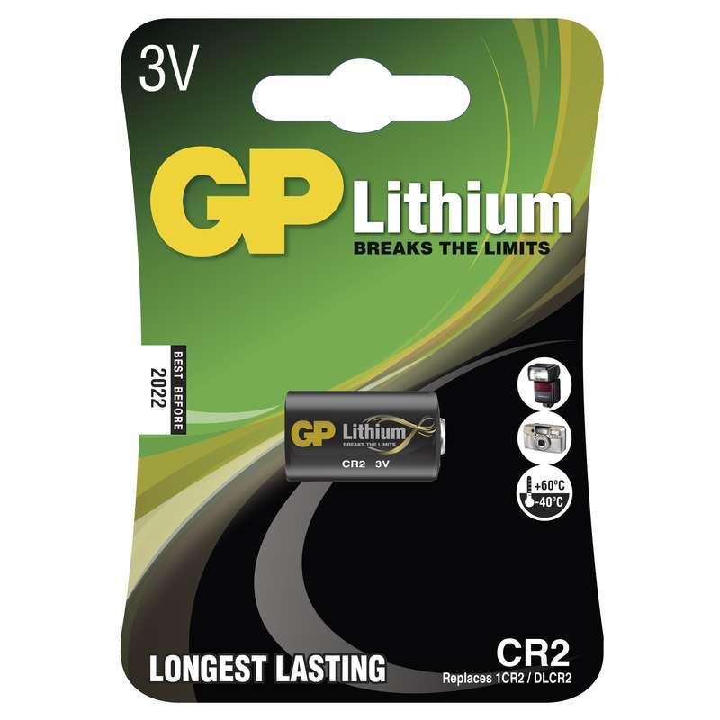 Foto lithiová baterie GP CR2, blistr