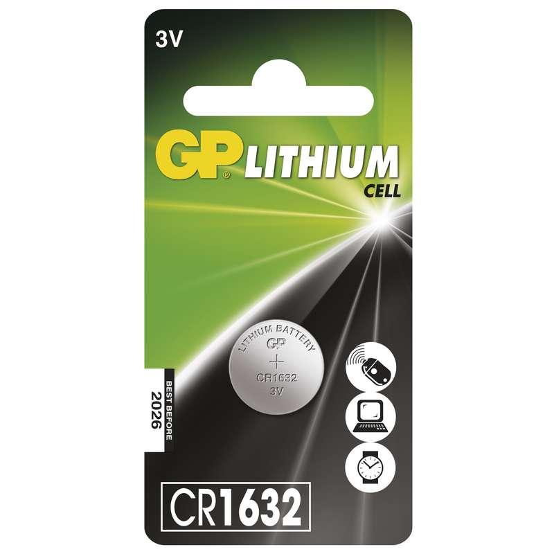 Lithiová knoflíková baterie GP CR1632, blistr