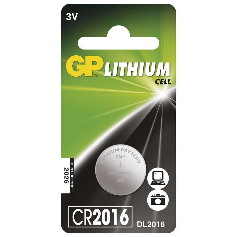 Lithiová knoflíková baterie GP CR2016, blistr