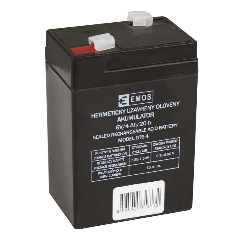 Bezúdržbový olověný akumulátor 6V 4Ah pro svítilny 3810